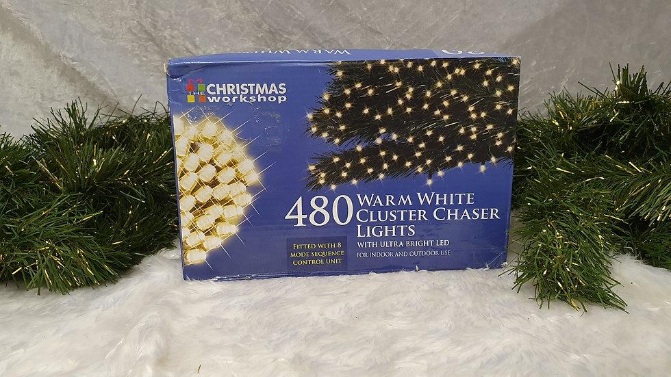 Christmas workshop 480 cluster chaser LED lights