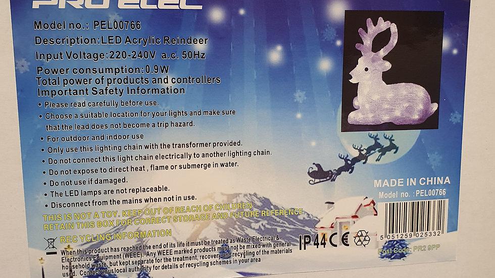 Pro-Elec led acrylic reindeer sitting