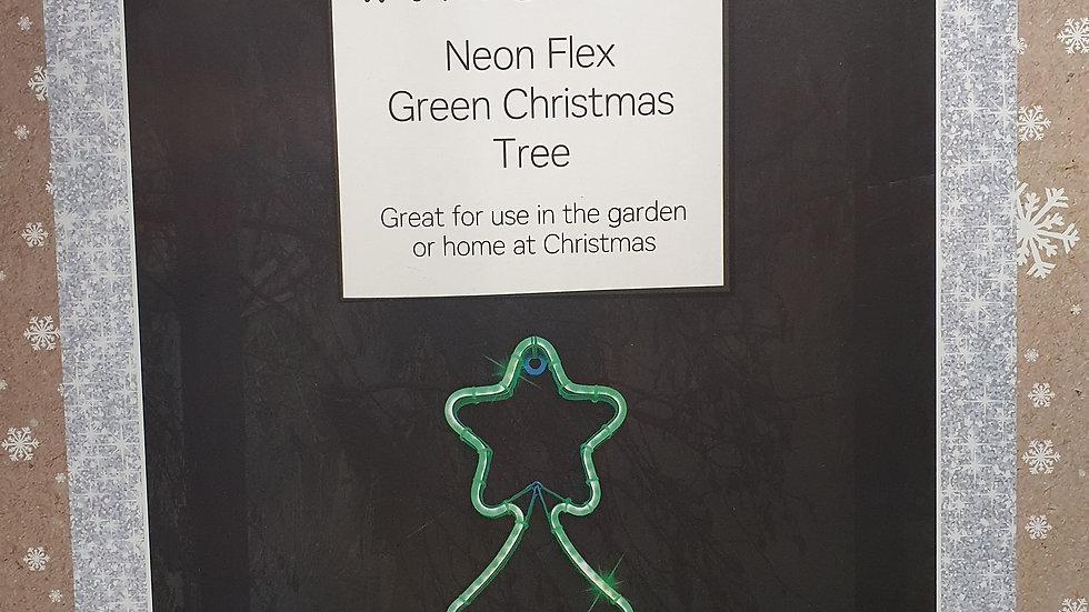 Christmas Wonderland neon flex green Christmas tree