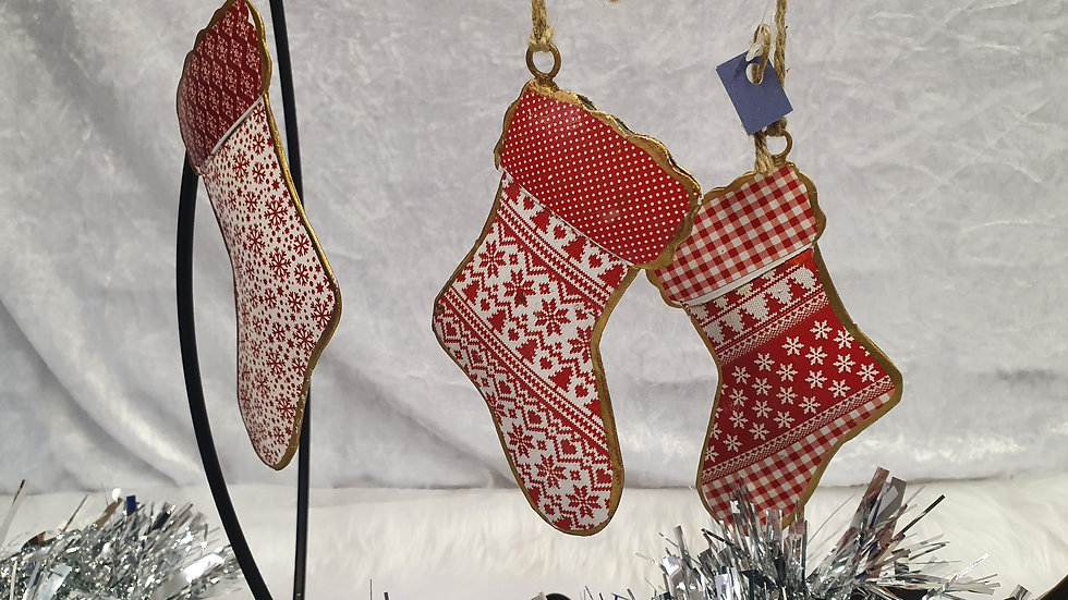 Tin stocking Decoration
