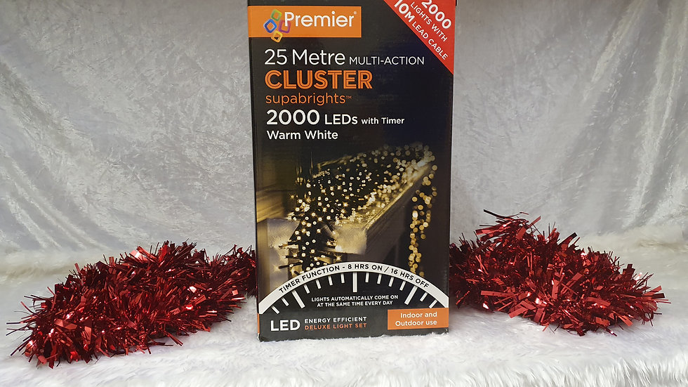 Premier  2000 multi-action cluster supabrights LED lights timer