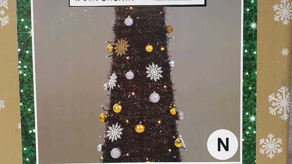 Christmas Wonderland 6ft/1.8m pre-lit pop up tinsel tree
