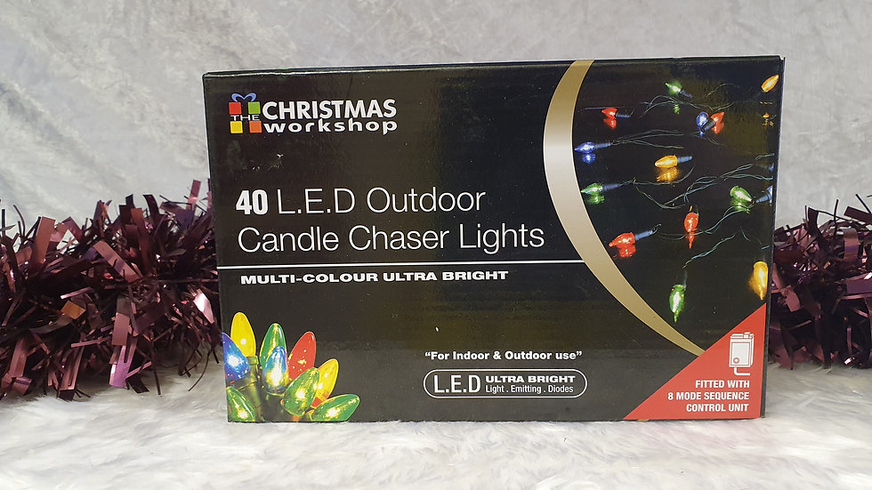 Christmas Workshop 40 LED outdoor candle chaser lights