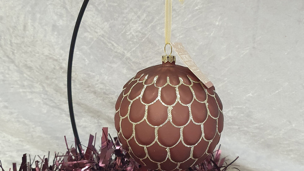 Luxury Burgundy and Gold Bauble