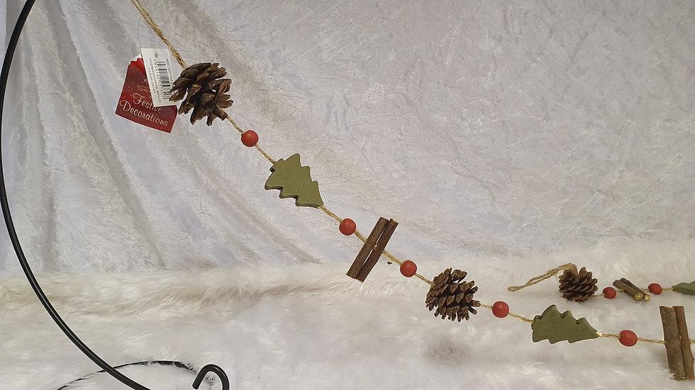 Pine cone strings garlands
