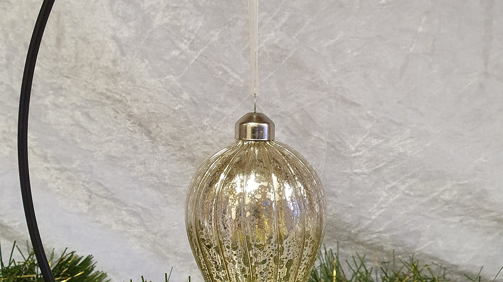 Gold Droplet Bauble