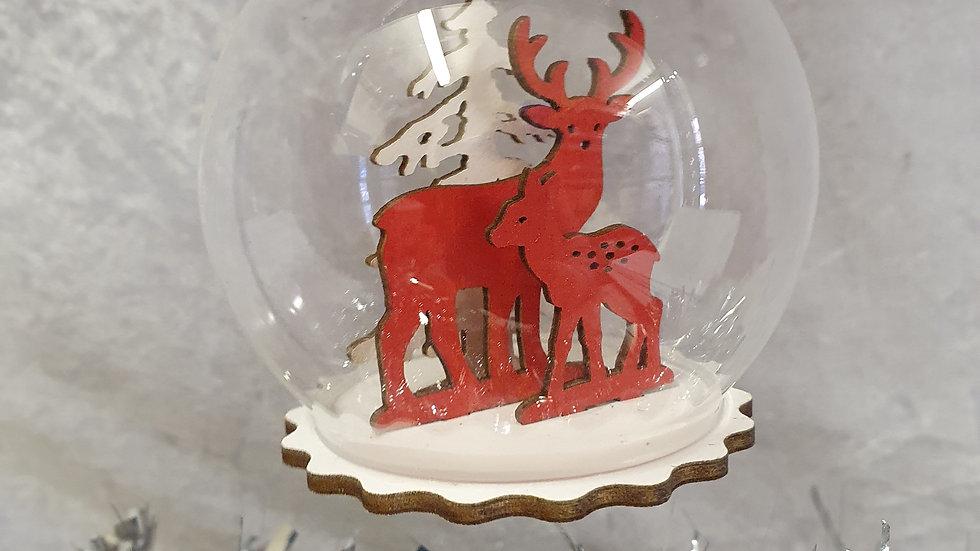 Sass&Belle Red Reindeer Bauble
