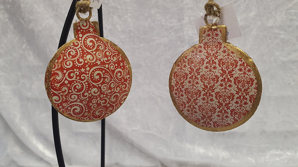 Tin Bauble Decoration