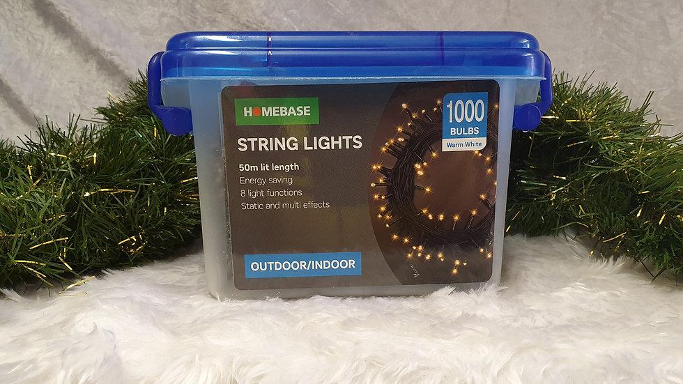 Homebase 1000 LED string lights
