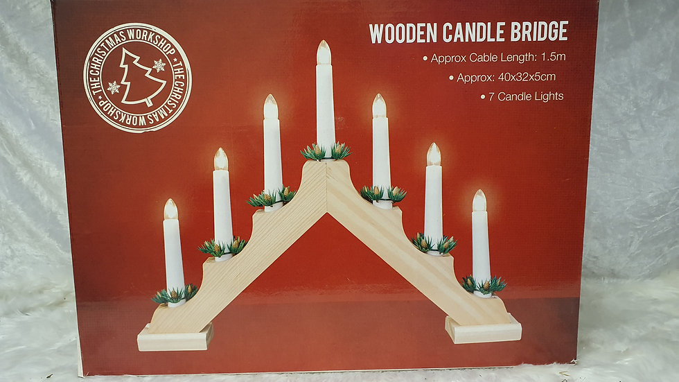 Christmas Workshop Wooden Candle Bridge