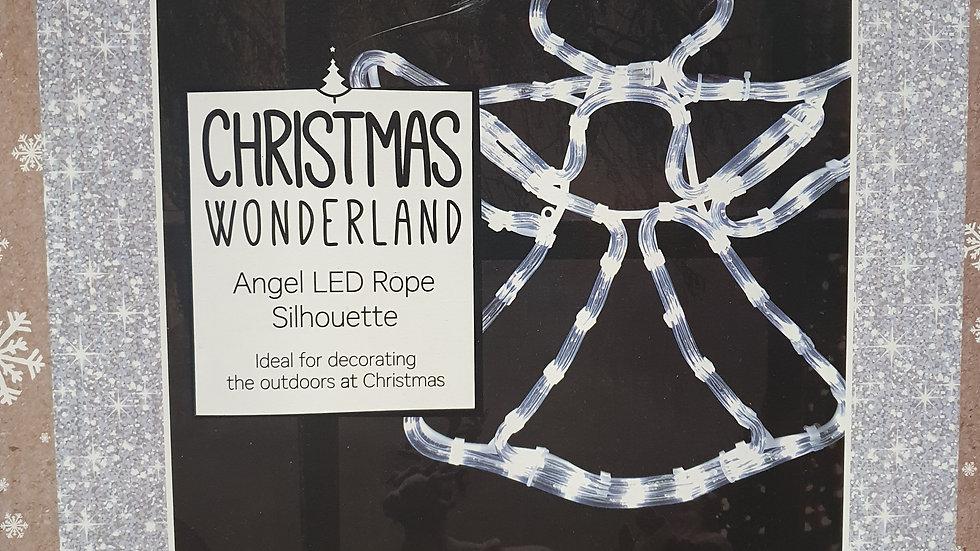 Christmas Wonderland Angel led rope silhouette