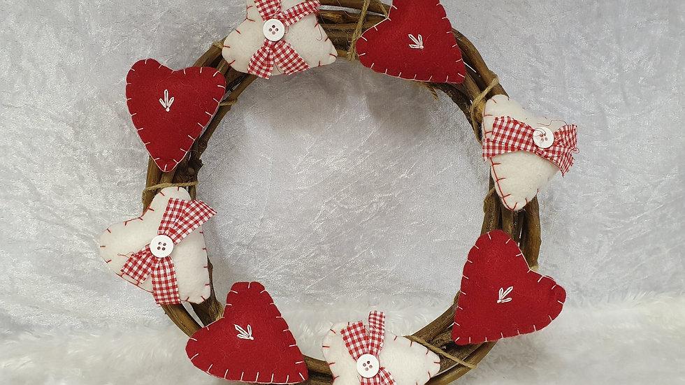 Gisela Graham Country Hearts Wreath