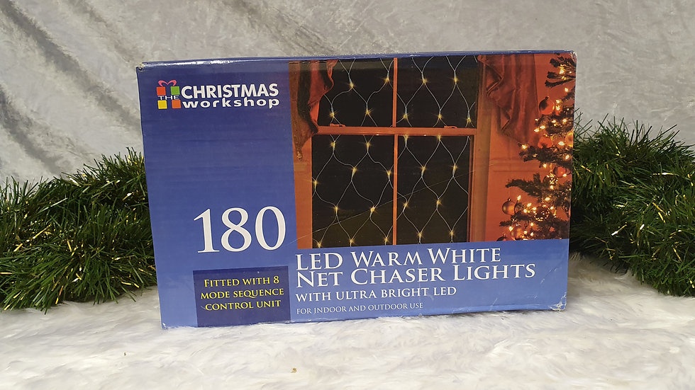 Christmas workshop 180 net chaser LED lights