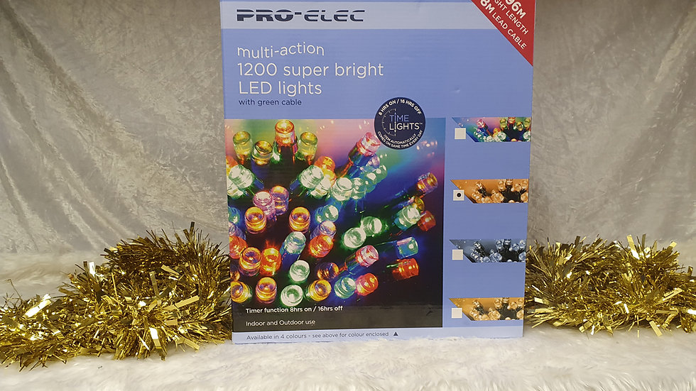 Pro-Elec 1200 multi action super bright LED Lights, with timer