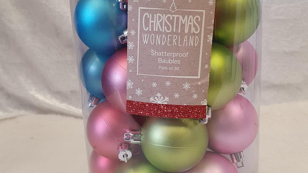Christmas Wonderland Set of 30 Baubles