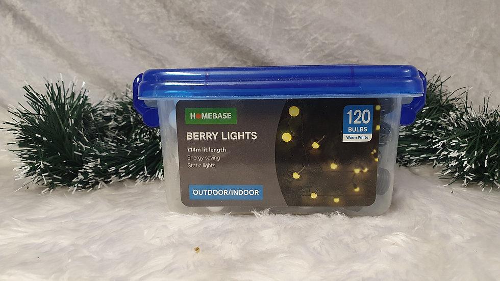 Homebase 120 berry LED lights