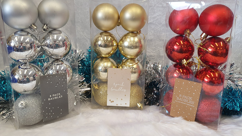 8 Pack of Baubles