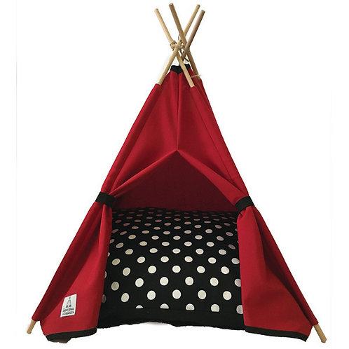 50x50cm Kırmızı Kedi Çadırı