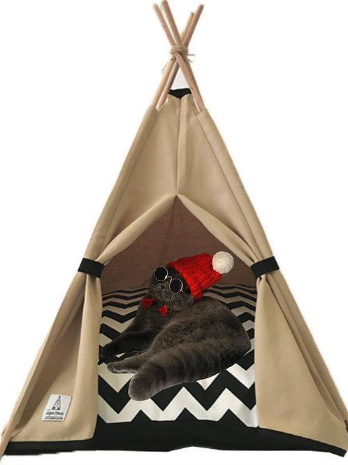 50x50cm Bej Kedi Çadırı