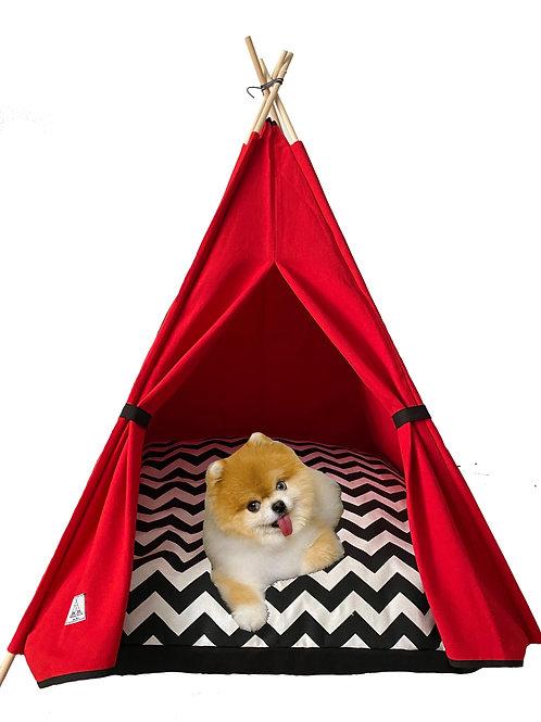 70x70cm Kırmızı Köpek Çadırı