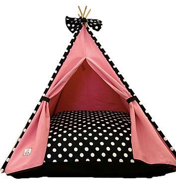 Teepee House Pembe Standart Köpek Çadırı