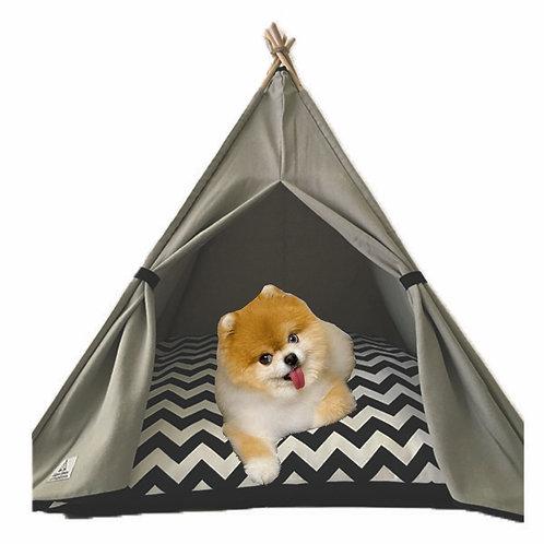 70x70cm Gri Köpek Çadırı
