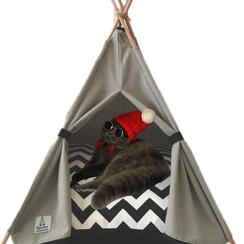 50x50cm Gri Kedi Çadırı