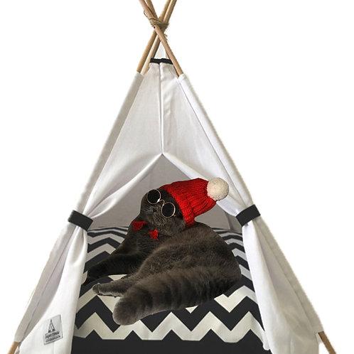 50x50cm Beyaz Kedi Çadırı