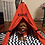 Thumbnail: 70x70cm Kırmızı Köpek Çadırı