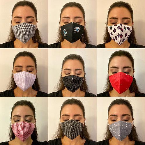 Pamuklu Yıkanabilir Maske