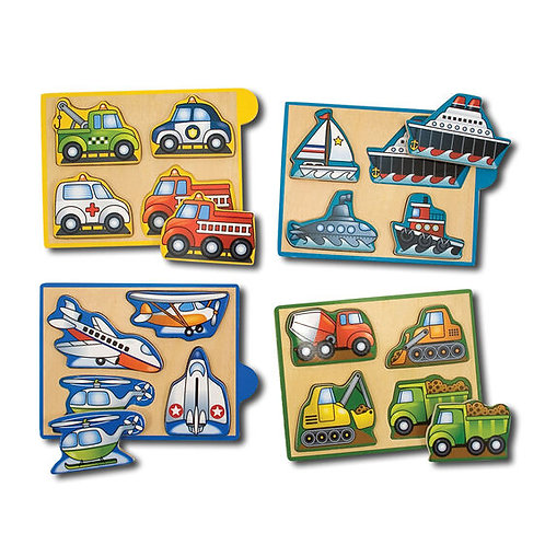 Mini Puzzle Pack Vehicles by Melissa and Doug