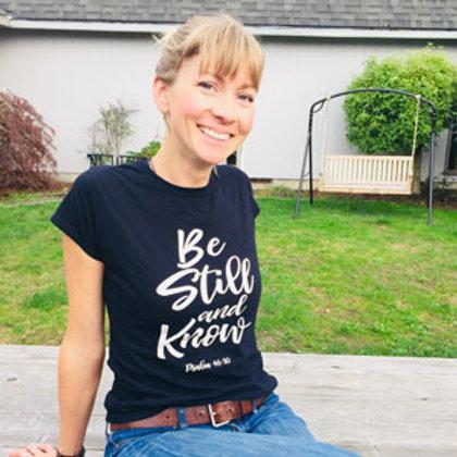 Wise Dyes Be Still Women's Tshirt in Black