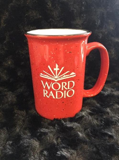 WSEW Word Radio Mug Red