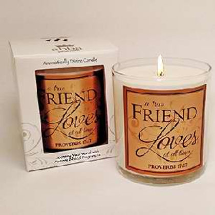 A Friend Loves At All Time Pommegranate Candle