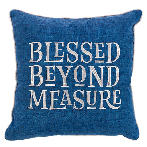 Pillow Blessed Beyond Measure Square