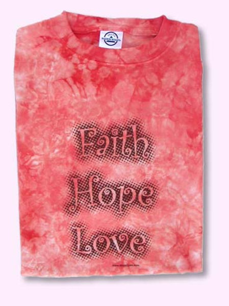 Faith Hope Love Coral T-Shirt
