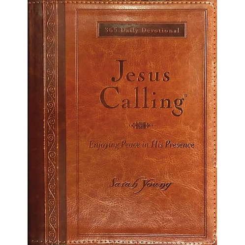 Jesus Calling Deluxe Edition Large Print Tan Leathersoft