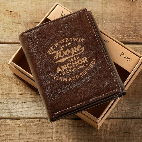We Have This Hope Tri-Fold Leather Wallet