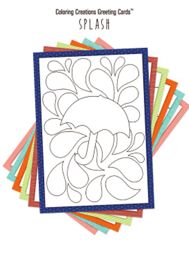 SPLASH Coloring Creations Greeting Cards Set of 12