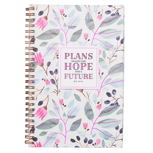 Plans To Give You A Hope And A Future Jeremiah 29:11 Wirebound journal