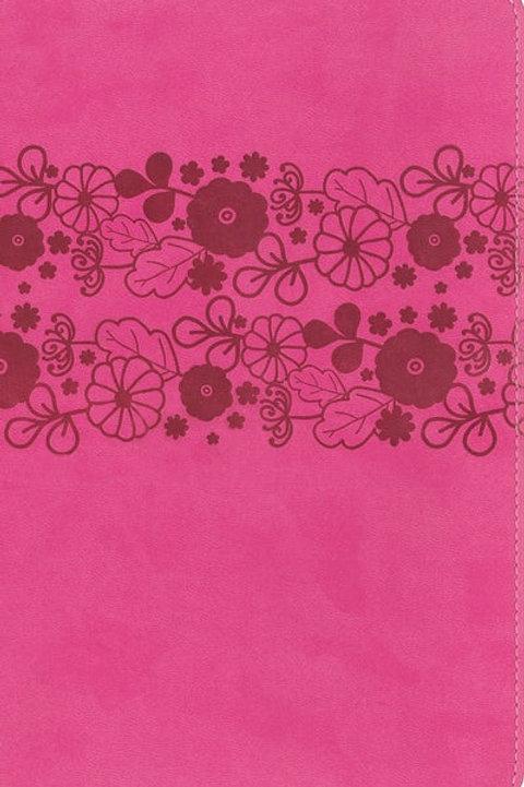 NIrV Large Print Leathersoft Pink