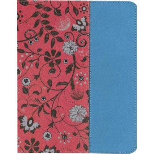 NIV Beautiful Word Coloring Bible For Teen Girls Cranberry and Blue Leathersoft