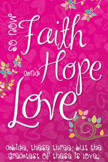 Faith Hope Love Notepad