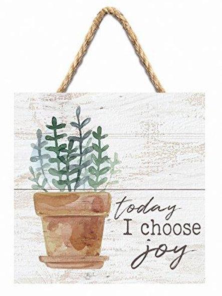 Today I Choose Joy Wood Pallet Hanging Sign