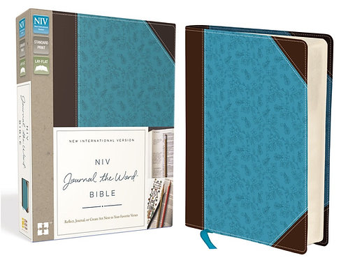 NIV, JOURNAL THE WORD BIBLE, LEATHERSOFT, BROWN/BLUE