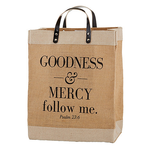 Goodness And Mercy Follow Me Psalm 23:6 Market Tote