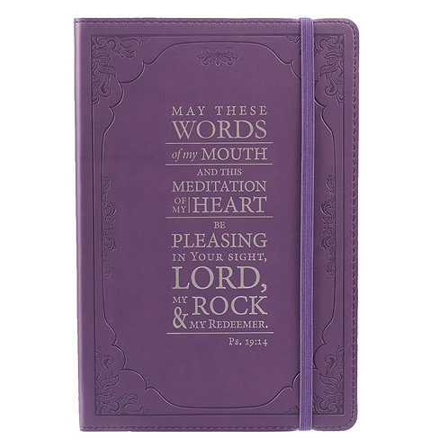 The Words of my Mouth Purple Flexcover Journal - Psalm 19:14