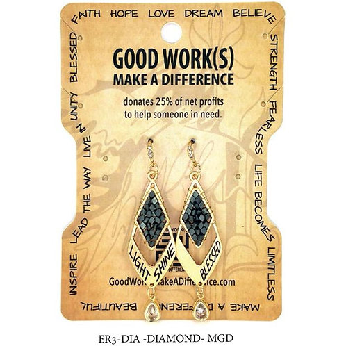 Copper Metal Light Shine/Blessed Earrings by Good Works Makes A Difference