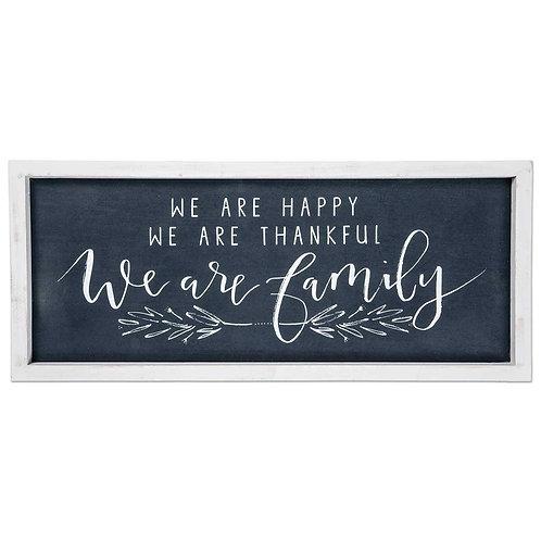 We Are Family Framed Linen Sign