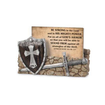 Scripture Card Holder-Word Of God, Armor Of God (Ephesians 6:10-11)